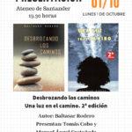 Presentación de libros en el Ateneo de Santander. Lunes 1 de octubre, 19.30