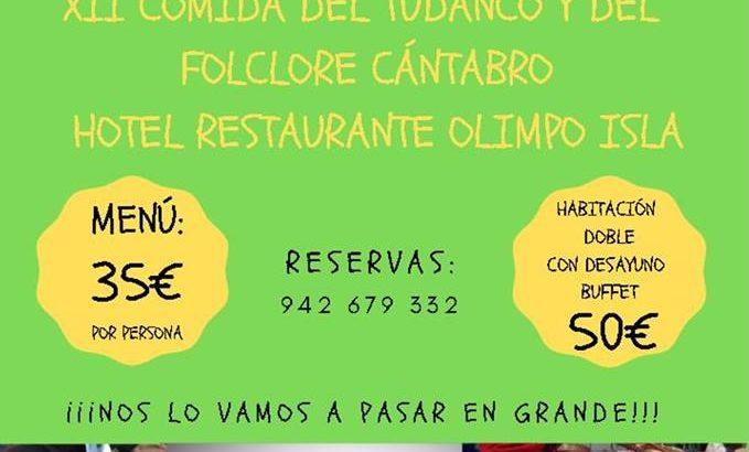 Comida-Homenaje al Folclore Cántabro en el Hotel Olimpo de
