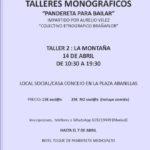 Taller Monográfico Pandereta para Bailar ( La Montaña) en Abanillas. Domingo 14 de abril
