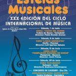 XXX Estelas Musicales en Castro Urdiales en Castro. Del sábado 1 al sábado 29 de junio.